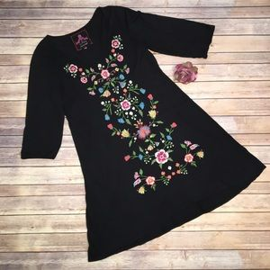 Johnny Was embroidered tunic dress. Size XL.